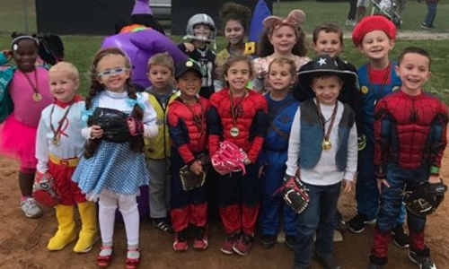 Fallball Tball Halloween party 2019