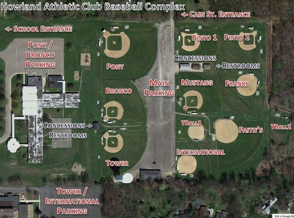 Hac Softball Field Map