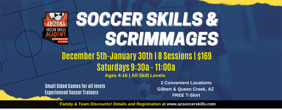 Winter Soccer Skills and Scrimmages