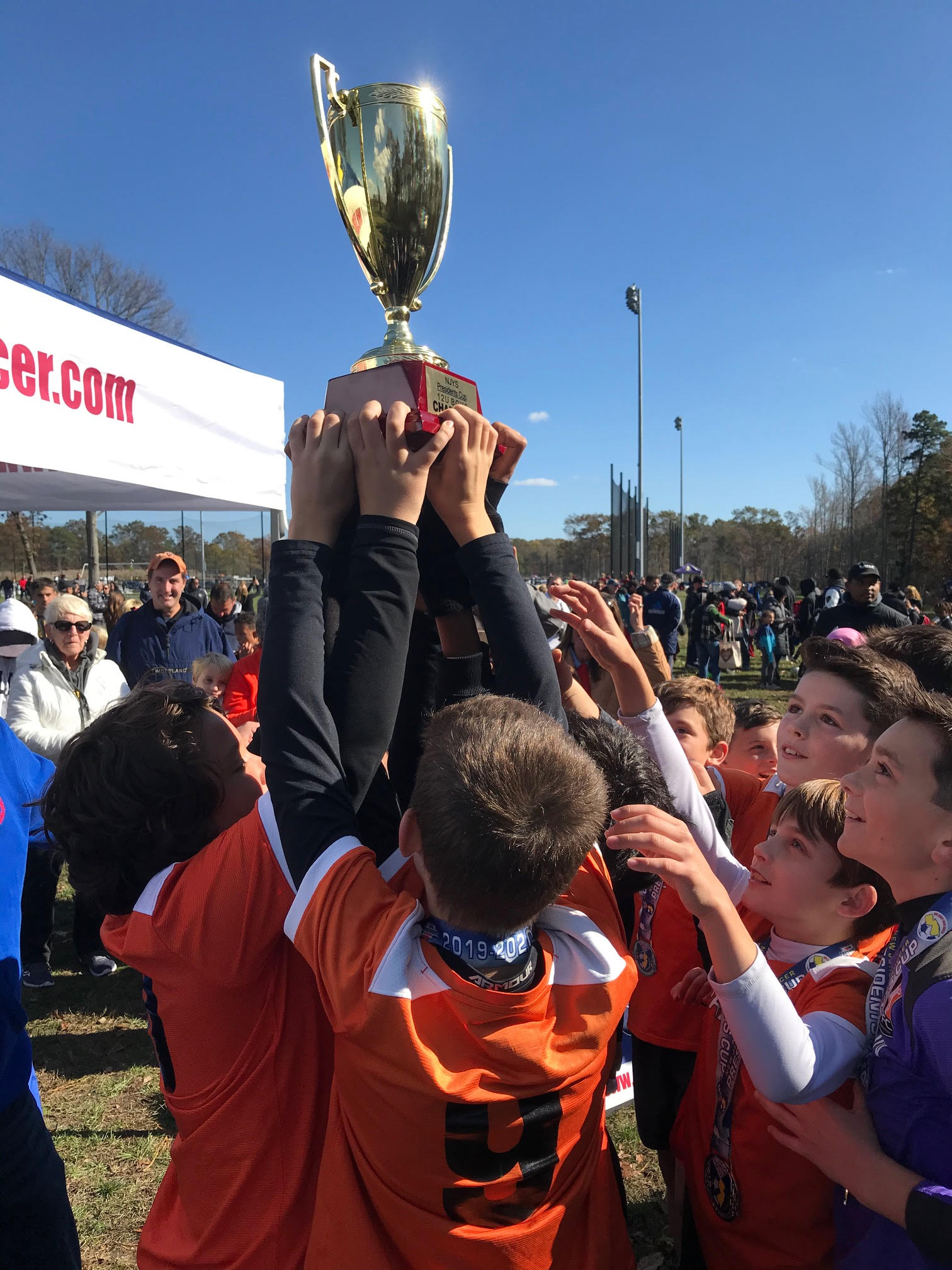 Lifting The Trophy