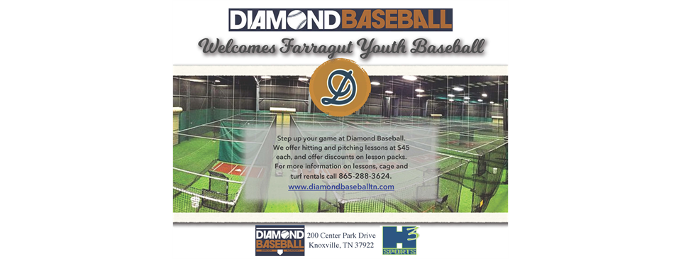 Check out Diamond Baseball for all your training needs! Call 865-288-3624