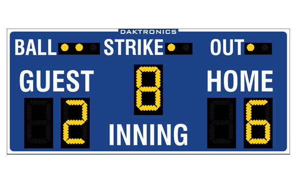 New scoreboards are ordered!