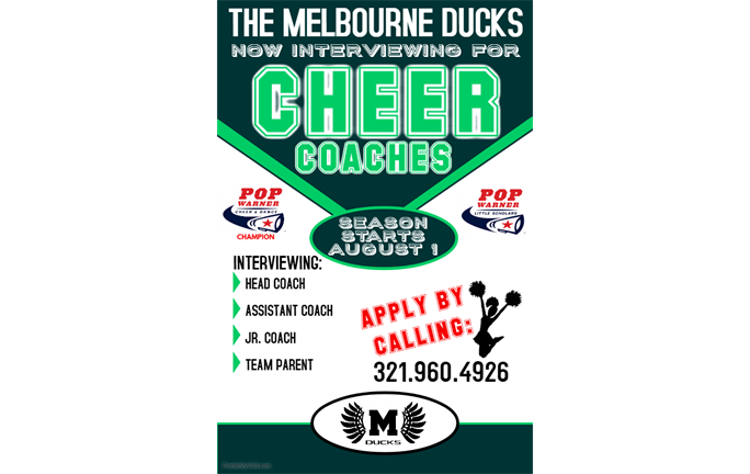 Now Interviewing for Cheer Coaches
