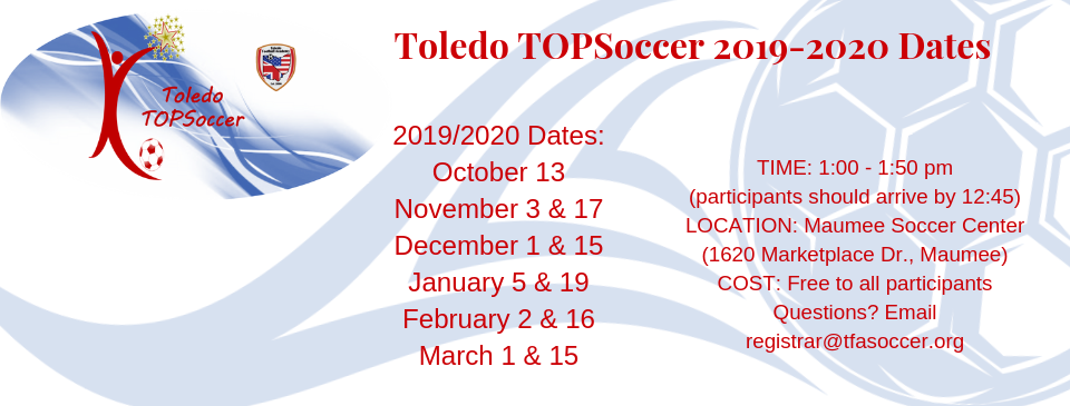 2019-2020 TOPSoccer Schedule