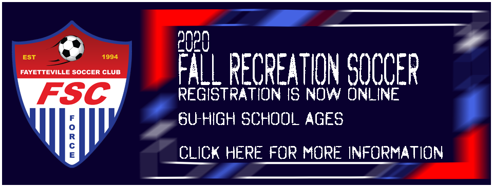 2020 Fall Recreation Soccer Registration Now Open!