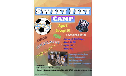 Sweet Feet Monthly Camp
