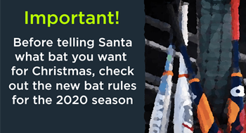 New bat rules for BOYS leagues in 2020