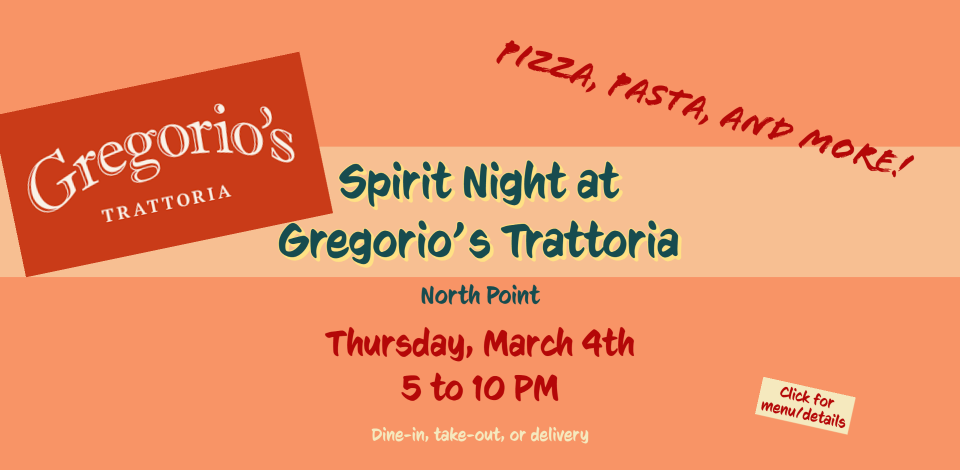 Spirit Night at Gregorio's