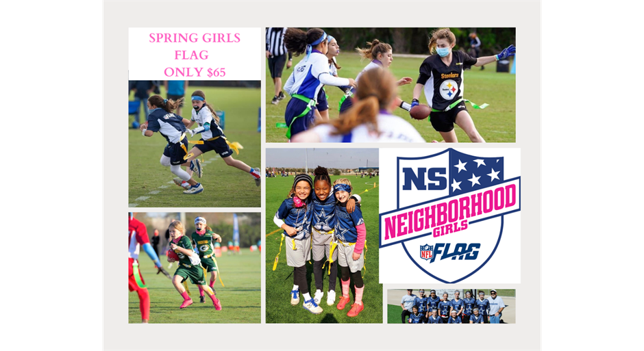 Girls NFL Youth Flag Football Only $65